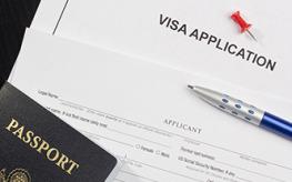 Papeles de aplicación visa
